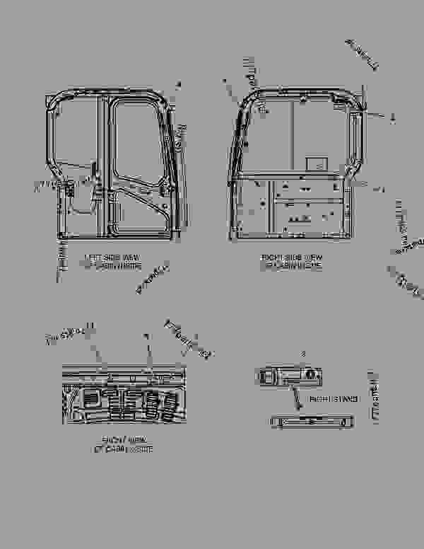 Parts scheme DECAL - CABIN(EUROPE) - EXCAVATOR Doosan E80 - OTHER PARTS | 777parts