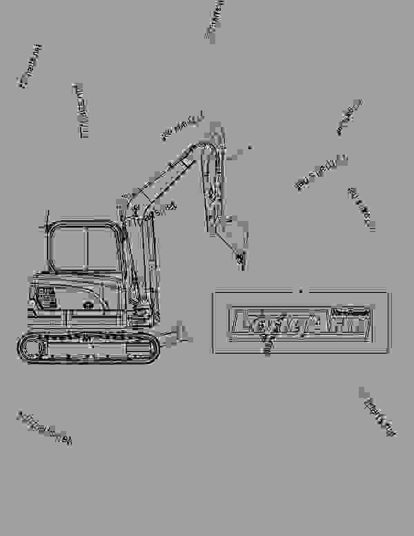 Parts scheme DECAL - LONG ARM - EXCAVATOR Doosan E80 - OTHER PARTS | 777parts