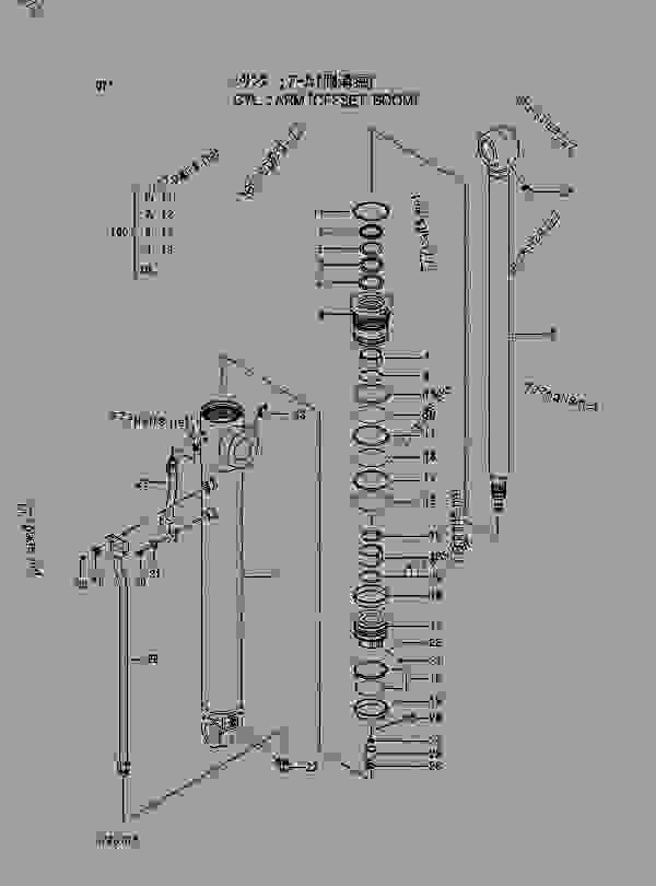 Parts scheme CYL.; ARM (OFFSET BOOM) - EXCAVATOR Hitachi EX60-5 - EX60-5 EX60LC-5 EX80-5 EQUIPMENT COMPONENTS PARTS CYLINDER | 777parts