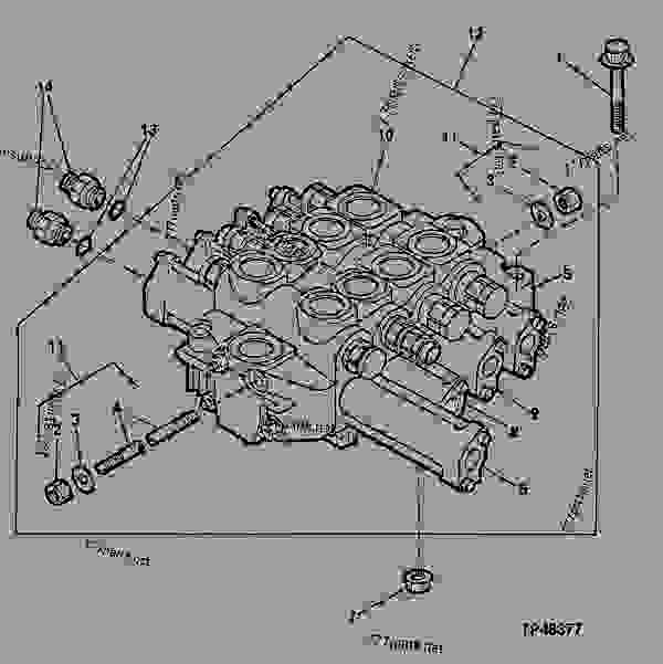 Parts scheme LOADER CONTROL VALVE (TWO, THREE OR FOUR SPOOL) - LOADER Hitachi LXD100 - LXD100 and LXD120 Loaders (Hitachi) LOADER    31 FRAMES  3140 | 777parts