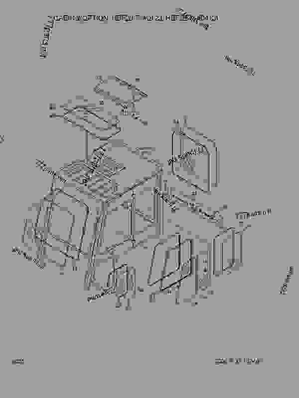 Parts scheme CABIN 2(OPTION,OLD) - FORK LIFT Hyundai HBF30-7 - HBF20/25/30/32-7 STRUCTURE CABIN 2(OPTION,OLD) | 777parts