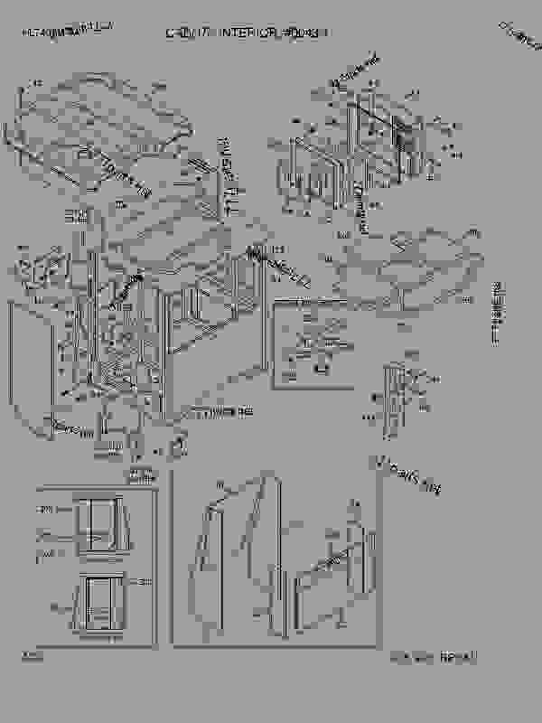 Parts scheme CAB(1/7, INTERIOR, #0043-) - WHEEL LOADER Hyundai HL740TM-7A - HL740TM-7A STRUCTURE CAB(1/7, INTERIOR, #0043-) | 777parts