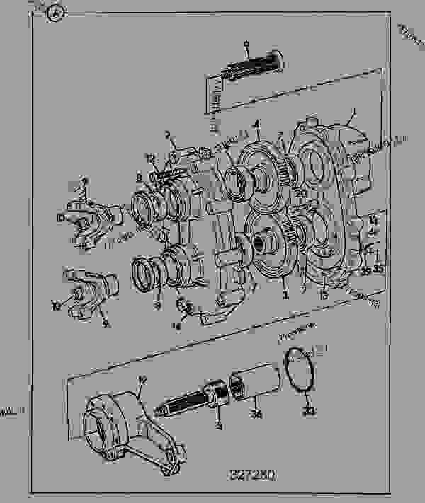 Parts scheme DROPBOX-HELICAL GEAR, PERMANENT 4WD, FOR AXLE RATIO 16.16 - CONSTRUCTION JCB .526 - LOADALL, 9802/7920, M280300- AXLES, WHEELS & TRANSMISSION AXLES, FRONT DROPBOX-HELICAL GEAR, PERMANENT 4WD, FOR AXLE RATIO 16.16 | 777parts