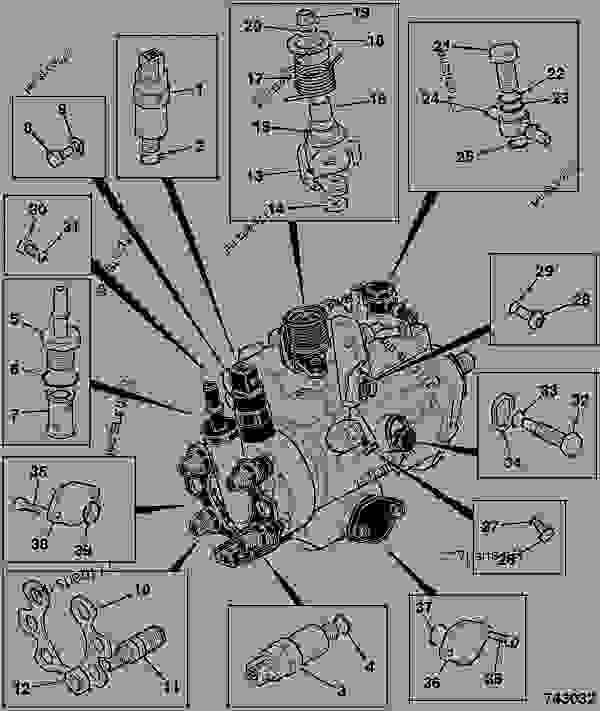 Parts scheme INJECTION PUMP, SERVICE PARTS, 24VOLT - CONSTRUCTION JCB 320/40087 - JCB444 4 CYLINDER ENGINE PARTS CATALOGUE, 9802/2910 4 CYLINDER NATURALLY ASPIRATED FUEL INJECTION PUMP INJECTION PUMP, SERVICE PARTS, 24VOLT | 777parts