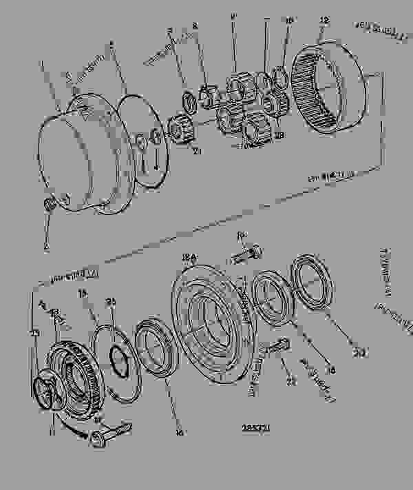 Parts scheme HUB & COMPONENTS, AXLE 461/21360 - CONSTRUCTION JCB SD70 LSD - INTERNATIONAL TRANSMISSIONS LTD, 9802/1010 PD55, SD55 AXLE, PAD MOUNT AXLE, STEER, DRIVE HUB & COMPONENTS, AXLE 461/21360 | 777parts