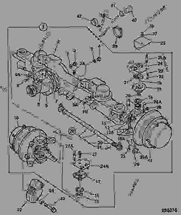 Jcb Fastrac Transmission : Front axle ws no spin differential
