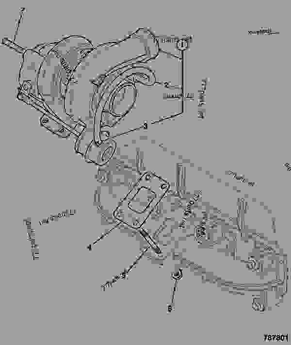 Parts scheme TURBOCHARGER, TCA - 74KW, HORIZONTAL - CONSTRUCTION JCB 320/40134 - JCB DIESELMAX OWNER PARTS CATALOGUE, 9812/2350 JCB DIESELMAX ENGINE MT3 TURBOCHARGER TURBOCHARGER, TCA - 74KW, HORIZONTAL | 777parts