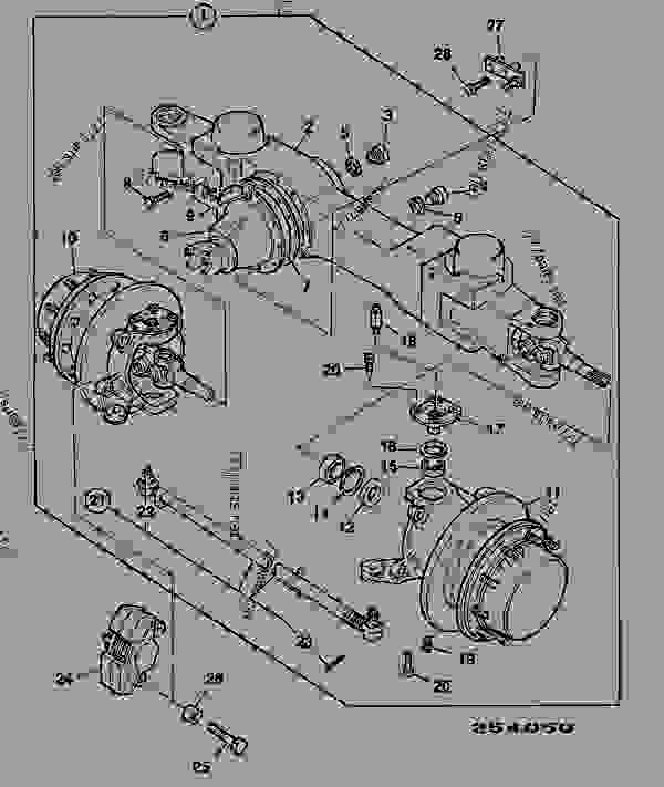 Parts scheme AXLE ASSEMBLY, FRONT, 30/40/55KPH - CONSTRUCTION JCB CONTRACTOR 150T - FASTRAC & CONTRACTOR, 9802/6600, M636001- AXLES, WHEELS & TRANSMISSIONS AXLES, FRONT AXLE ASSEMBLY, FRONT, 30/40/55KPH | 777parts
