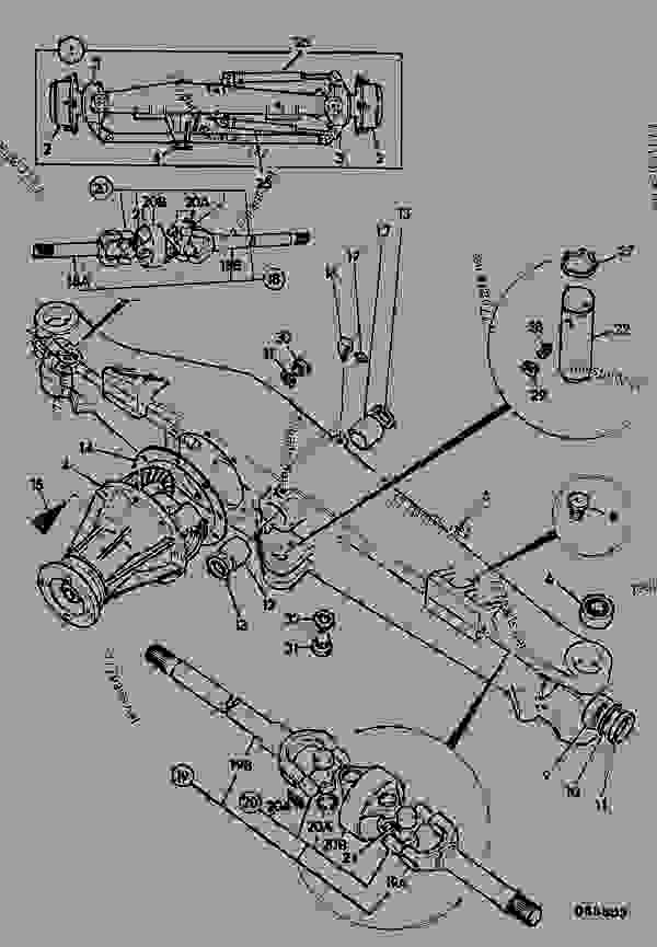 Jcb Steering Parts : Axle assembly steering rear wd construction jcb b