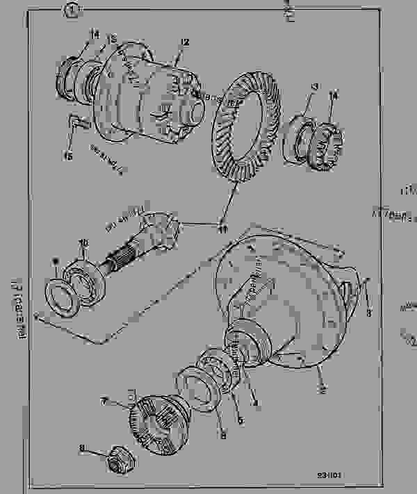 Parts scheme AXLE DRIVE HEAD, MAXTRAC, 16.2:1 RATIO - CONSTRUCTION JCB CONTRACTOR 150T - FASTRAC & CONTRACTOR, 9802/6600, M636001- AXLES, WHEELS & TRANSMISSIONS AXLES, FRONT AXLE DRIVE HEAD, MAXTRAC, 16.2:1 RATIO | 777parts