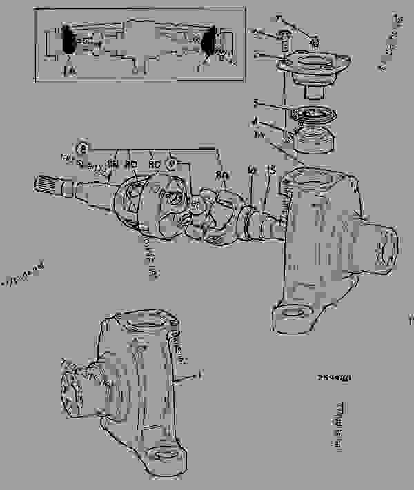 Parts scheme KNUCKLE, STEERING, AWS REAR AXLE, 453/24600 C/W L.S.D. - CONSTRUCTION JCB 3CX (24 Volt) - REGULAR BACKHOE LOADER (SIDESHIFT), 9802/9730, M460001- AXLES, WHEELS & TRANSMISSION AXLES, REAR KNUCKLE, STEERING, AWS REAR AXLE, 453/24600 C/W L.S.D. | 777parts