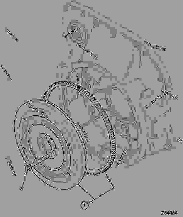 Parts scheme FLYWHEEL ASSEMBLY, P42 VOITH COUPLING - ITL JCB 320/40072 - JCB444 4 CYLINDER ENGINE PARTS CATALOGUE, 9802/2910 4 CYLINDER NATURALLY ASPIRATED FLYWHEEL ASSEMBLY FLYWHEEL ASSEMBLY, P42 VOITH COUPLING | 777parts