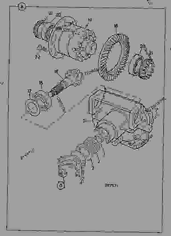 Parts scheme DIFFERENTIAL, ASSEMBLY MAX-TRAC, STEERING AXLE 461/22290 - ITL JCB PD80 - INTERNATIONAL TRANSMISSIONS LTD, 9802/1010 S55, SD55 AXLE, PIVOT MOUNT AXLE, STEER SD55/PT DIFFERENTIAL, ASSEMBLY MAX-TRAC, STEERING AXLE 461/22290 | 777parts