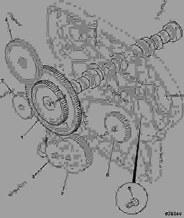 Parts scheme CAMSHAFT, IDLER BLANKING - CONSTRUCTION JCB 320/40087 - JCB444 4 CYLINDER ENGINE PARTS CATALOGUE, 9802/2910 4 CYLINDER NATURALLY ASPIRATED CAMSHAFT & TIMING GEARS CAMSHAFT, IDLER BLANKING | 777parts