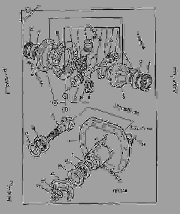 Parts scheme DIFFERENTIAL, ASSEMBLY, 24.975:1, STEER AXLE 461/16100 - ITL JCB PD80 - INTERNATIONAL TRANSMISSIONS LTD, 9802/1010 S80, SD80 AXLE SD80 PIN MOUNT AXLE DIFFERENTIAL, ASSEMBLY, 24.975:1, STEER AXLE 461/16100 | 777parts