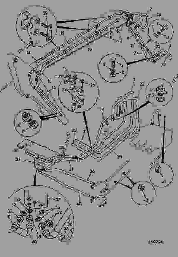 Parts scheme CIRCUIT, AUXILIARY - CONSTRUCTION JCB .814 - CRAWLER EXCAVATOR, 9802/5300, 201500/78600- HYDRAULICS INCLUDING STEERING HOSE & PIPEWORK CIRCUIT, AUXILIARY | 777parts