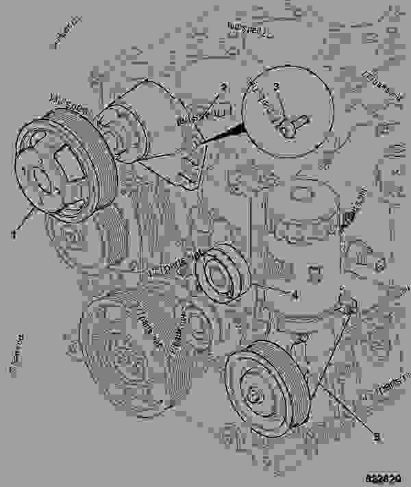 Parts scheme FRONT END DRIVE, ACCESSORY, WITH COOLING FAN - ITL JCB 320/40017 - JCB444 4 CYLINDER ENGINE PARTS CATALOGUE, 9802/2940 ENGINE 4 CYLINDER TURBOCHARGED FRONT END DRIVE FRONT END DRIVE, ACCESSORY, WITH COOLING FAN | 777parts