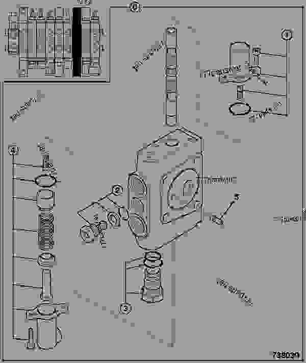 Parts scheme VALVE, SECTION, BUCKET - CONSTRUCTION JCB 8018 - Parts Catalogue 801X range , 9802/5520 HYDRAULICS & AIR VALVES & HYDRAULIC FILTERS VALVE, SECTION, BUCKET | 777parts