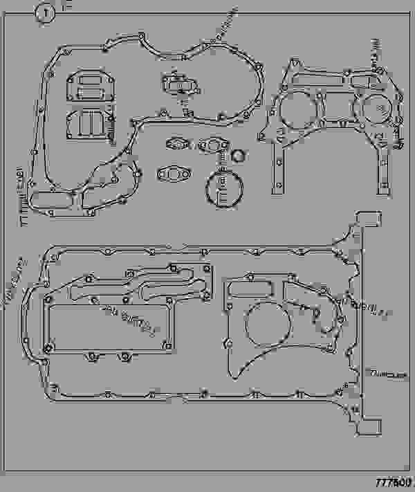 Parts scheme GASKET SET, BOTTOM, RE BUILD - CONSTRUCTION JCB RTFL930-2T2 - RTFL PARTS CATALOGUE, 9802/7640, M823756- ENGINE 1104C-44 RE BUILD, TIER 2 GASKET SETS GASKET SET, BOTTOM, RE BUILD | 777parts