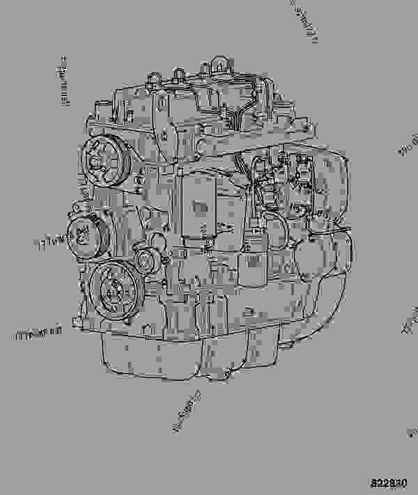 Parts scheme ENGINE, COMPLETE, 320/50016 - ITL JCB 320/40072 - JCB444 4 CYLINDER ENGINE PARTS CATALOGUE, 9802/2910 4 CYLINDER NATURALLY ASPIRATED ENGINE ASSEMBLIES ENGINE, COMPLETE, 320/50016 | 777parts