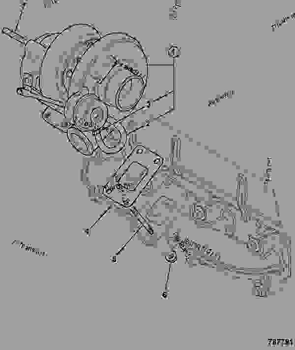 Parts scheme TURBOCHARGER, TCA - CONSTRUCTION JCB 320/40033 - JCB444 4 CYLINDER ENGINE PARTS CATALOGUE, 9802/2940 ENGINE 4 CYLINDER TURBOCHARGED TURBOCHARGER TURBOCHARGER, TCA | 777parts