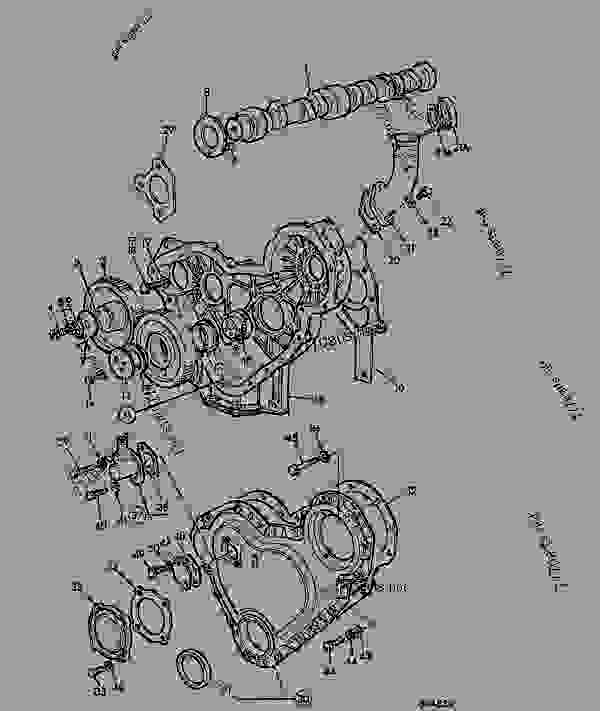 Parts scheme TIMING CASE, CAMSHAFT & GEARS, IMPERIAL, LD BUILD - AGRICULTURAL JCB 525B-2HL - LOADALL 525B-2/4,H/L,F.S., 9802/7200, M272001- ENGINE 4.236/T4.236 ENGINE,BLOCK & SUB-ASSEMBLIES TIMING CASE, CAMSHAFT & GEARS, IMPERIAL, LD BUILD | 777parts