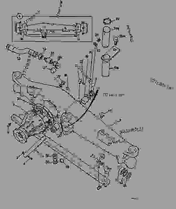 Jcb Steering Parts : Axle assembly wd steering agricultural jcb d