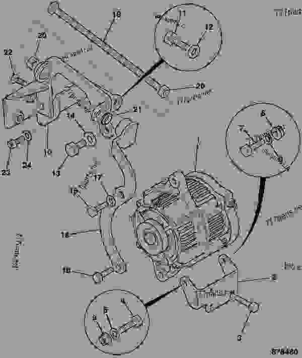 alternator mountings aircon option tier 2 8030 8035 construction rh 777parts net 24V Alternator Regulator 24 Volt System Wiring Diagram