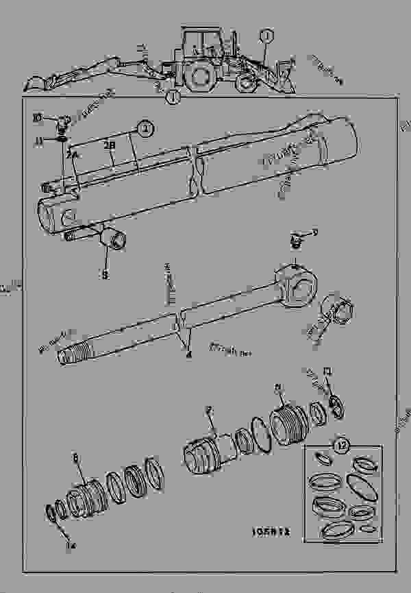 Parts scheme RAM, SHOVEL, STANDARD - CONSTRUCTION JCB .3CX-4 France - REGULAR BACKHOE LOADER (WORLDWIDE), 9802/8550, M337001- HYDRAULICS RAMS RAM, SHOVEL, STANDARD | 777parts
