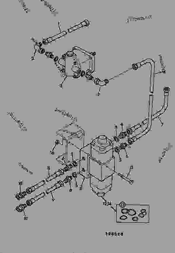 Parts scheme CIRCUIT, INDEPENDANT AUXILARY - CONSTRUCTION JCB .814 - CRAWLER EXCAVATOR, 9802/5300, 201500/78600- HYDRAULICS INCLUDING STEERING HOSE & PIPEWORK CIRCUIT, INDEPENDANT AUXILARY | 777parts
