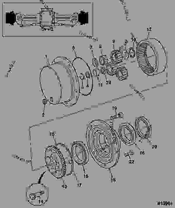 Parts scheme HUB & COMPONENTS, STEER AXLE, 461/22420 - CONSTRUCTION JCB SD70 LSD - INTERNATIONAL TRANSMISSIONS LTD, 9802/1010 PD55, SD55 AXLE, PAD MOUNT AXLE, STEER, 3 PIECE HOUSING HUB & COMPONENTS, STEER AXLE, 461/22420 | 777parts