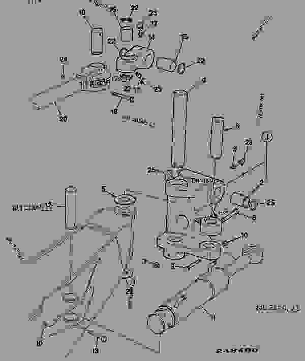 Parts scheme KNUCKLE, BOOM PIVOT - CONSTRUCTION JCB 3CXS - REGULAR BACKHOE LOADER, 9812/0010, M0960016- BODYWORK, CAB, LOADER END BACKHOE KNUCKLE, BOOM PIVOT | 777parts