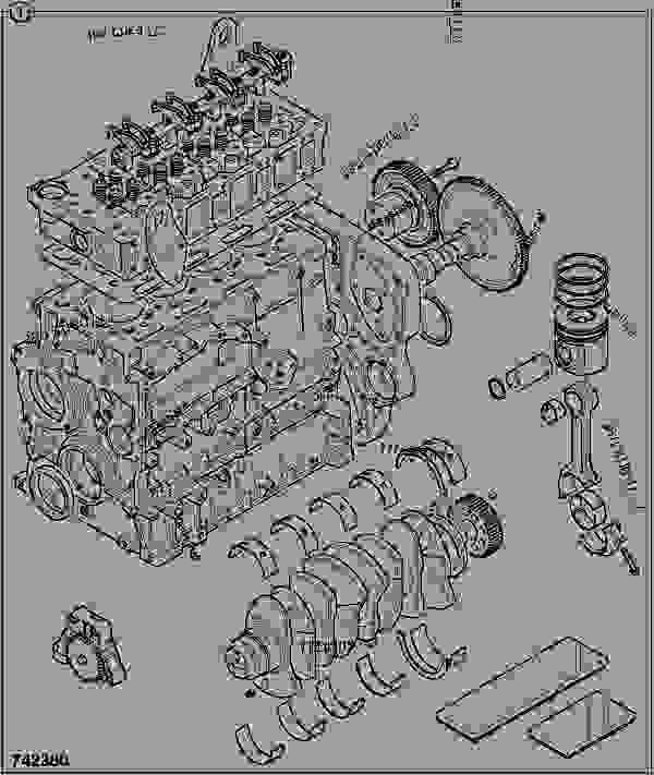 Parts scheme ENGINE, LONG, 320/40021 - CONSTRUCTION JCB 320/40087 - JCB444 4 CYLINDER ENGINE PARTS CATALOGUE, 9802/2910 4 CYLINDER NATURALLY ASPIRATED OVERHAUL KITS ENGINE, LONG, 320/40021 | 777parts