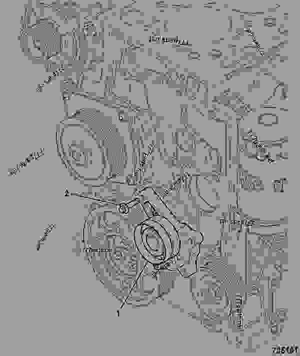 Parts scheme AUTO-TENSIONER, DRIVE BELT - ITL JCB 320/40017 - JCB444 4 CYLINDER ENGINE PARTS CATALOGUE, 9802/2940 ENGINE 4 CYLINDER TURBOCHARGED FRONT END DRIVE AUTO-TENSIONER, DRIVE BELT | 777parts