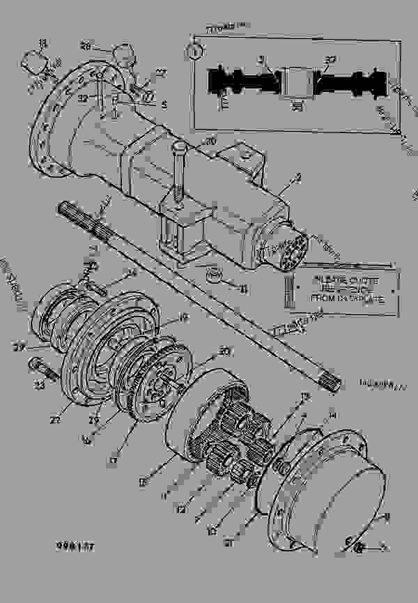 Parts scheme AXLE, DRIVE ASSEMBLY, 12.49:1, 462/10400 - ITL JCB PD80 - INTERNATIONAL TRANSMISSIONS LTD, 9802/1010 PD70 AXLE AXLE PD70 MAXTRAC AXLE, DRIVE ASSEMBLY, 12.49:1, 462/10400 | 777parts