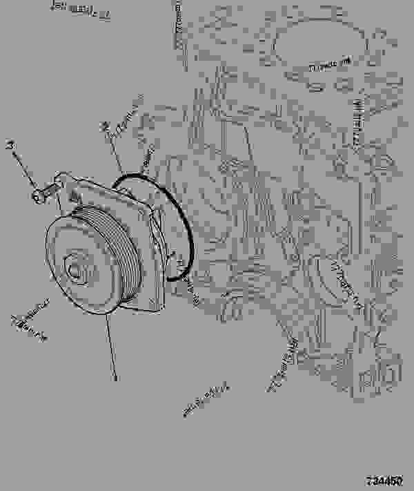 Parts scheme WATER PUMP - CONSTRUCTION JCB 320/40087 - JCB444 4 CYLINDER ENGINE PARTS CATALOGUE, 9802/2910 4 CYLINDER NATURALLY ASPIRATED WATER PUMP WATER PUMP | 777parts