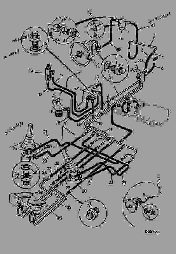 Parts scheme CIRCUIT, SERVO, FEED & RETURN - CONSTRUCTION JCB .814 - CRAWLER EXCAVATOR, 9802/5300, 201500/78600- HYDRAULICS INCLUDING STEERING HOSE & PIPEWORK CIRCUIT, SERVO, FEED & RETURN | 777parts