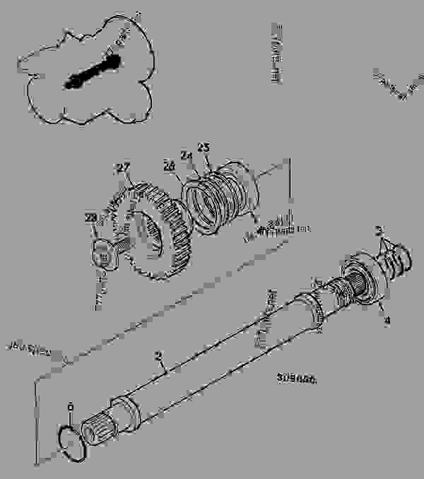 Parts scheme SHAFT, P.T.O., 4WD, POWERSHIFT TRANSMISSION 460/38100 - CONSTRUCTION JCB PS740 - TRANSMISSIONS, 9802/1020 PS740 TRANSMISSION PS740 4WD TRANSMISSION C/W PTO SHAFT, P.T.O., 4WD, POWERSHIFT TRANSMISSION 460/38100 | 777parts