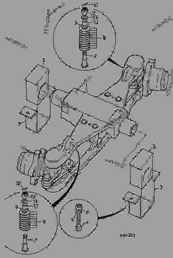 Parts scheme AXLE, REAR, INSTALLATION - ITL JCB PD80 - INTERNATIONAL TRANSMISSIONS LTD, 9802/1010 SD40 AXLE AXLE, DEAD STEER, SD40 AXLE, REAR, INSTALLATION | 777parts