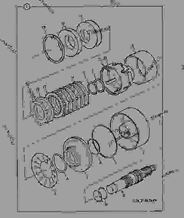 Parts scheme TRANSMISSION, CLUTCH UNIT, DROP BOX. 460/11800 - CONSTRUCTION JCB PS740 - TRANSMISSIONS, 9802/1020 SS660 TRANSMISSION SS660 TRANS, HYDRAULIC 4WD TRANSMISSION, CLUTCH UNIT, DROP BOX. 460/11800 | 777parts