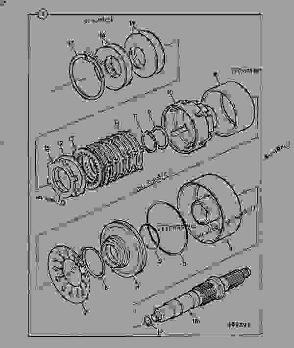 Parts scheme TRANSMISSION, CLUTCH UNIT, 4WD. 460/80150 - CONSTRUCTION JCB PS740 - TRANSMISSIONS, 9802/1020 PS740 TRANSMISSION PS740 4WD TRANSMISSION MK2 TRANSMISSION, CLUTCH UNIT, 4WD. 460/80150 | 777parts