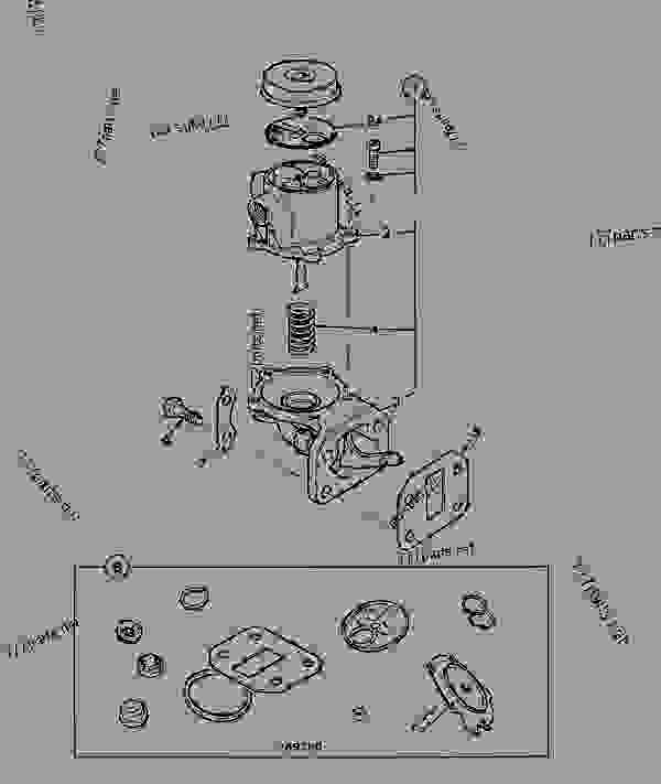 Parts scheme PUMP, FUEL LIFT - CONSTRUCTION JCB 214Se - ECONOMY BACKHOE LOADER, 9802/9740, M477052- ENGINES 1004-4, AA BUILDS FUEL SYSTEM PUMP, FUEL LIFT | 777parts