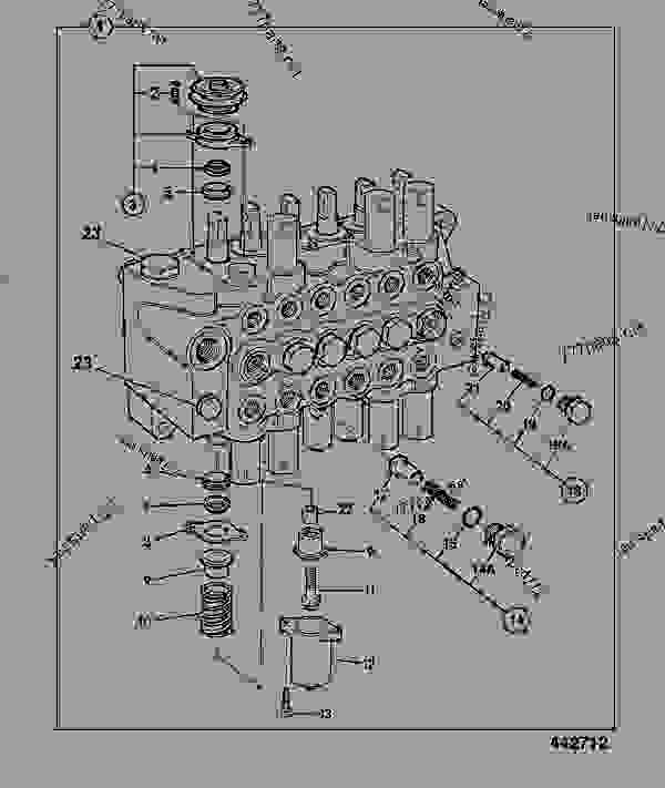 Parts scheme VALVE, EXCAVATOR, CENTREMOUNT, NEVER USED IN PRODUCTION A04/245M - CONSTRUCTION JCB 214e/3C 14-T2 - ECONOMY BACKHOE LOADER (BRAZIL BUILDS), 9802/8720, M1000500- HYDRAULICS & AIR INCLUDING, STEERING VALVES & HYDRAULIC FILTERS VALVE, EXCAVATOR, CENTREMOUNT, NEVER USED IN PRODUCTION A04/245M | 777parts
