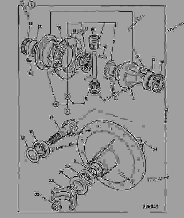 Parts scheme DIFFERENTIAL, SD55 STEERING AXLE, 461/22680 - CONSTRUCTION JCB SD70 LSD - INTERNATIONAL TRANSMISSIONS LTD, 9802/1010 S55, SD55 AXLE, PIVOT MOUNT AXLE, STEER SD55/PT DIFFERENTIAL, SD55 STEERING AXLE, 461/22680 | 777parts