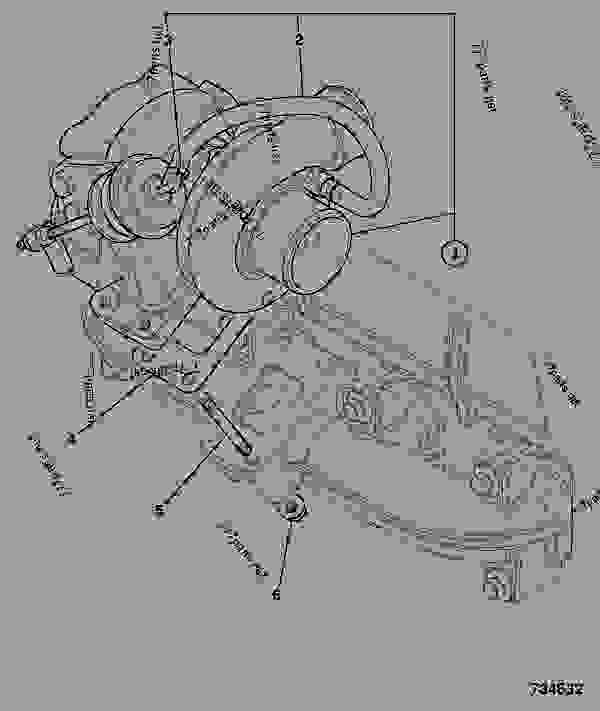 Parts scheme TURBOCHARGER, TC - ITL JCB 320/40011 - JCB444 4 CYLINDER ENGINE PARTS CATALOGUE, 9802/2940 ENGINE 4 CYLINDER TURBOCHARGED TURBOCHARGER TURBOCHARGER, TC | 777parts