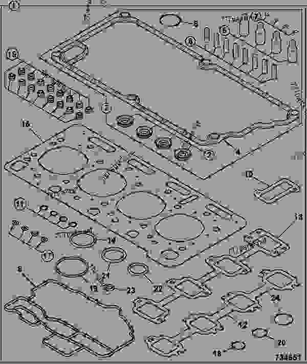 Parts scheme GASKET SET, TOP OVERHAUL - ITL JCB 320/40078 - JCB444 4 CYLINDER ENGINE PARTS CATALOGUE, 9802/2910 4 CYLINDER NATURALLY ASPIRATED GASKET SETS GASKET SET, TOP OVERHAUL | 777parts