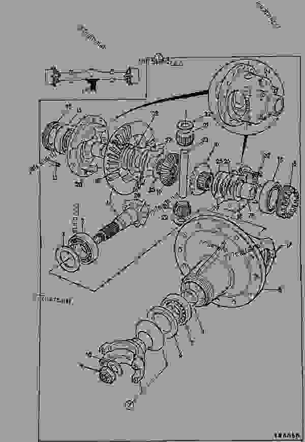 Parts scheme AXLE, DRIVE HEAD, 3.875:1, LIMITED SLIP DIFFERENTIAL - AGRICULTURAL JCB 408 Farm Master - WHEELED LOADING SHOVEL 406,406FM,408,408FM, 9802/2270, M630000- AXLES,WHEELS & TRANSMISSION AXLES,PROPSHAFTS AXLE, DRIVE HEAD, 3.875:1, LIMITED SLIP DIFFERENTIAL | 777parts