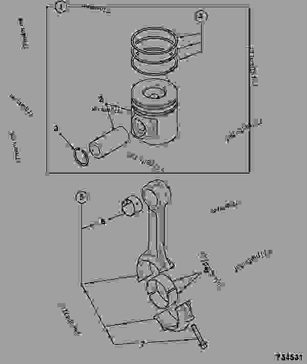 Parts scheme PISTON & CON-ROD, ASSEMBLIES - ITL JCB 320/40072 - JCB444 4 CYLINDER ENGINE PARTS CATALOGUE, 9802/2910 4 CYLINDER NATURALLY ASPIRATED PISTON & CON-ROD ASSEMBLIES PISTON & CON-ROD, ASSEMBLIES | 777parts