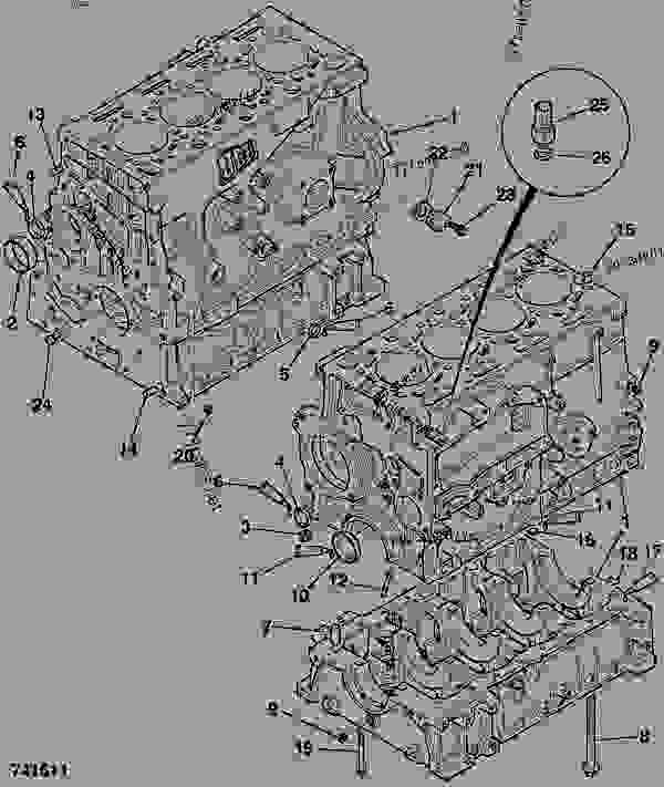 Parts scheme CYLINDER BLOCK, ASSEMBLY - CONSTRUCTION JCB 320/40087 - JCB444 4 CYLINDER ENGINE PARTS CATALOGUE, 9802/2910 4 CYLINDER NATURALLY ASPIRATED CYLINDER BLOCK ASSEMBLY CYLINDER BLOCK, ASSEMBLY | 777parts