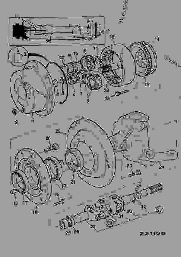 Parts scheme HUB & COMPONENTS, FRONT LEFT HAND - CONSTRUCTION JCB 1115 - FASTRAC, 9802/6620, M736000- AXLES, WHEELS & TRANSMISSION AXLES, FRONT HUB & COMPONENTS, FRONT LEFT HAND | 777parts